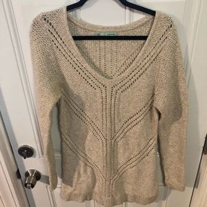 Maurice's Cream Knit Sweater Large